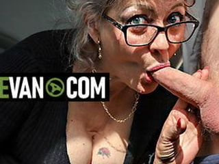 Hot granny wants young cock in MatureVan