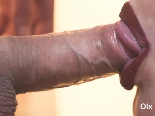 4K, Stunning close-up blowjob with cum thither mouth