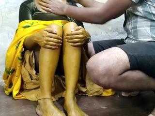 Indian girl fucked by boyfriend in advance Suhaagraat in Haladi