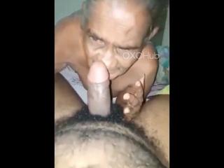 Desi Granny Sucks and Fucks Young Grandson forth Hindi Porn
