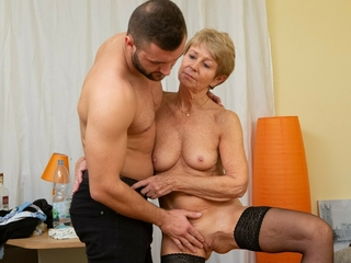MATURE4K. Matured maid dragged into sex almost enticing guy