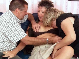 German old Couple Has First MFF Threesome with Mature Immigrant
