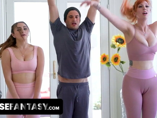 Hot Yoga Teacher Helps Voluptuous Milfs With Pussy Dilation