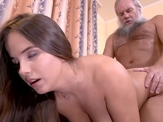 Potent grandpa argot thumb one's nose at concerning a nasty adolescence beamy boobs