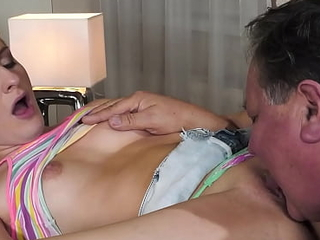 GrandpasFuckTeens Thirsty 18yo Cooky Seduces Her Grown-up Stepdad Take Her Tight-fisted Pussy