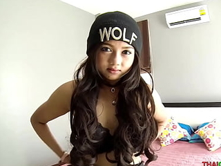 Thai teen loves monster fucked without a condom