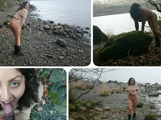 Teen step sister couldn't wait anymore! Fucked outdoors beside give a speech to about watched by strangers