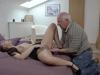 DADDY4K. Beauty Ornella Morgen enjoys ugly sex with superannuated dad