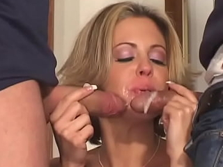 Double penetration - Is just what this little floosie wants!