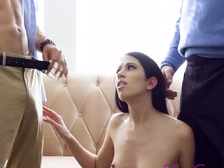 Petite Babe Squirts While Getting Fucked By Blackmailing Therapists - Alex Coal