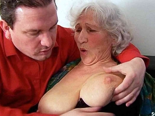 BIG TITS GERMAN GRANNY, 81yr OLD SEDUCED TO FUCK BY Stand up for