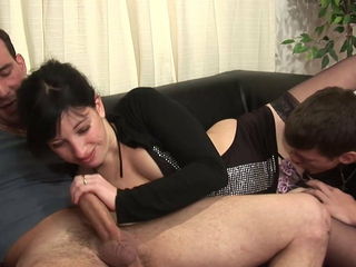 Dirty old and young family sex round fisting and anal