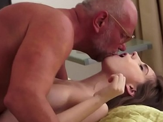 Attracting babe screwed wits an oldmans cock