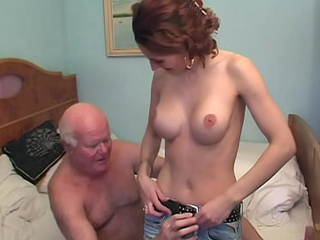 Hot caregiver Sarah Star fucked unconnected with grandpa Mireck