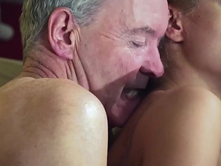 Old Pauper Driven extensively from sexy hot babe in old young femdom hardcore fucking