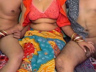 Indian Wife Gangbang With Husband Increased by His Affiliate