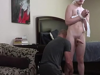 Stepdad blindfolds son about the air mad about him - joyous aged together with young