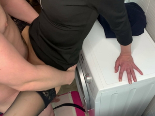 Sex within reach a party. A girl thither stockings fucks with a guy