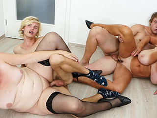 Stuffing their old wet holes