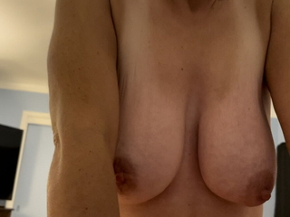 Mature cougar with saggy boobs riding anal and farting cum