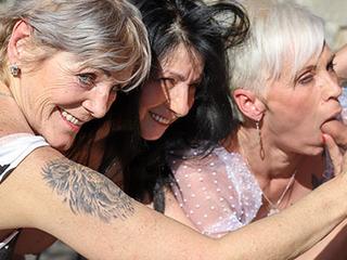 Three rich grannies zeal for cum