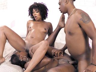 Black stepsister fights everywhere bro over their ebony stepmom
