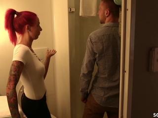 Past master sweet-talk Cute Redhead German Teen apropos Trick to Fuck