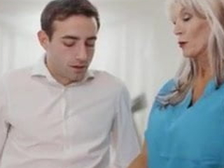 65 y.o. Psychotherapist Works On A Youthful Guy - Sally D'Angelo