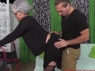 Young pervert fuck say no to Granny so hard
