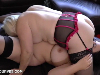 Big boobs with an increment of butt Sarah Jane's first older woman experience