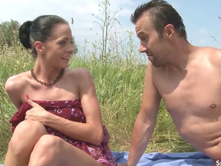 Slim Nudism Teen Seduce nigh Beach Ass Sex by Stranger Voyeur