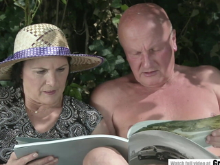 Many dicks peeing on granny and then fucking will not hear of