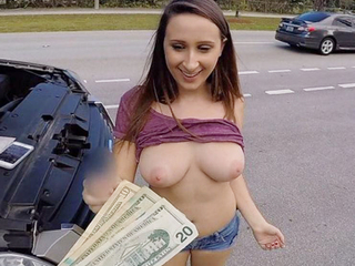 Big Tits Teen Fucked By Stranger Be fitting of Cash Thither Fix Car POV