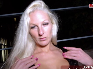 German Blonde slut public send up at Berlin - EROCOM DATE