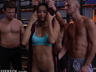 Veronica Leal Gets Gangbanged Alongside A Gym For ages c in depth Backstage