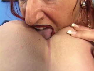 German fit Melanie has fun with her friend and two guys