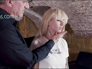 Blonde bungle spanked and slapped