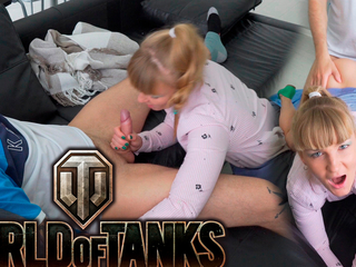I'm horny when my stepbrother plays Terra of Tanks