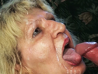 Naff 84 year old mom gets fucked by a big dick