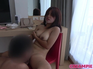 Thai unfocused with big incompetent titties gets fucked by Japanese guy