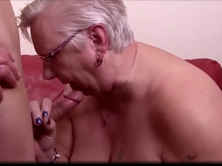 Broad in the beam BBW Granny Gets Pussy Licked added to Fucked