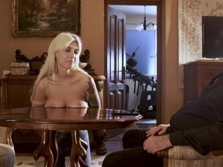 Slutty blonde disrespects her master