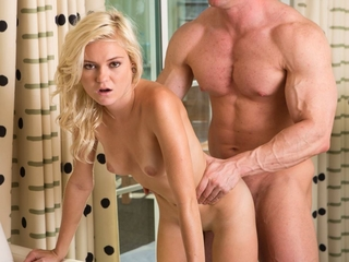 Petite Young Blonde Teen Fucked To Maximum By Neighbor