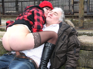 Superannuated Nasty Guy Fucks Real Czech Teen Street Whore in Public