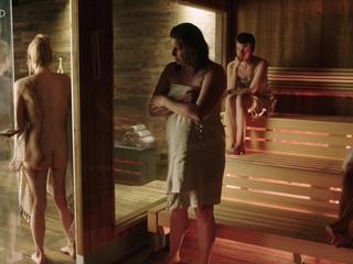 Anna Unterberger - nude, butt, sauna