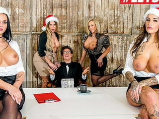 LETSDOEIT Christmas Office Sex With Mia Blow & Bosses Ornament 1