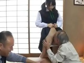 Grandpa enjoys school girl cum-hole for be transferred to first seniority