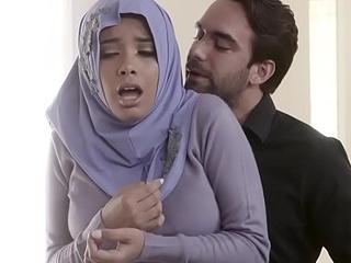 Muslim teen harlot in hijab anal screwed by dissolute envoy