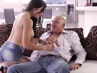 OLD4K. Hot latina chooses patriarch men