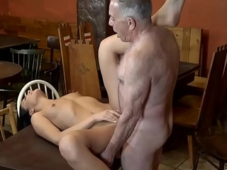DADDY4K. Sweetheart Anna Rose let ancient lover stretch her wet pussy in bar